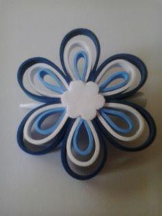 Horquilla pelo azul en Goma Eva www.fofuchasbell.es