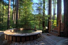 Check out this awesome listing on Airbnb: Luxury Compound in the Redwoods with Spa - Houses for Rent in Cazadero Jacuzzi, Hot Tub Backyard, Backyard Patio, Compound House, Cabin Hot Tub, Outdoor Spaces, Outdoor Living, Rustic Outdoor, Outdoor Decor