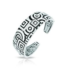 Geometrica Black & White Bangle
