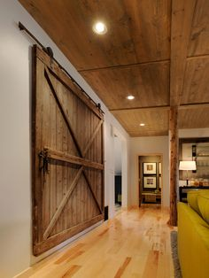 HGTV Dream Home 2011 Living Area Barn Doors