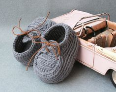 100% Cotton Baby Boy Crochet Booties, Baby Boy Shoes, Toddler shoes,size 0-3 Months, Newborn, ready to ship
