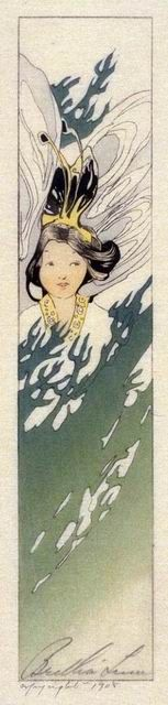 Pine Tree Fairy, Bertha Lum, 1908. Diana was known to be the virgin goddess of childbirth and women. She was one of the three maiden goddesses, Diana, Minerva and Vesta, who swore never to marry.  Oak groves were especially sacred to her.