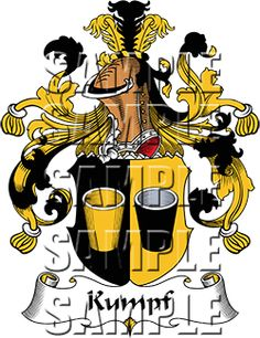 Kumpf Family Crest apparel, Kumpf Coat of Arms gifts