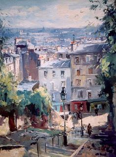 Calvaire Staircase (Montmartre) by Robert Ricart, French Artist