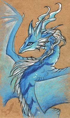 Blue mountain dragoness by AlviaAlcedo.deviantart.com on @deviantART