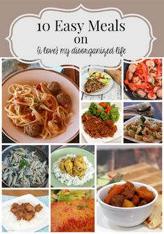No time to cook? Busy schedule leaving you tired of take-out? These easy meals can help!