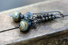 The Discreet Ones Series Rustic Artisan Ceramic by Tribalis www.Tribalis.etsy.com - handmade - jewelry - jewellery - earrings - artisan