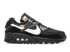 24bf0101a1c Classique Off White x Nike Air Max 90 Chaussures de basketball Homme Femme  National noir blanc