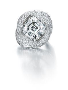 Paolo Costagli Fancy Grey Asscher-Cut Diamond Ring - Photo courtesy of Paolo Costagli
