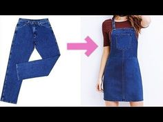diy overalls from jeans how to make Jeans Refashion, Diy Clothes Refashion, Diy Clothes Jeans, Thrift Store Refashion, Sewing Jeans, Sewing Clothes, Diy Old Jeans, Look 80s, Diy Fashion