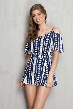 Macaquinho folk ombro vazado | Dress to