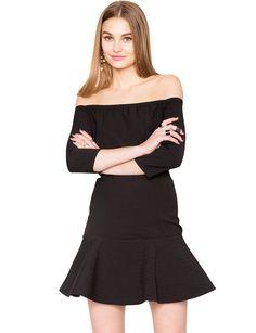 Stella Black Off the Shoulder Dress  $82.00
