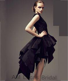 Vestito nero largo house