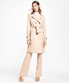 d0c3a21ca0 Double-Breasted Trench Coat Fashion For Petite Women