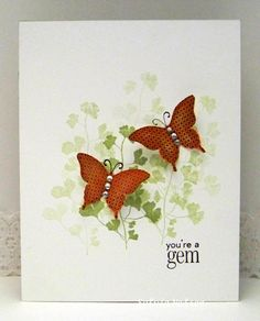 one layer stamping plus butterflies from Sylvia's Stamping Corner
