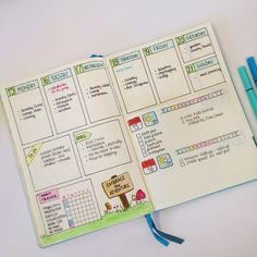 "660 Likes, 27 Comments - Christina (@christina77star) on Instagram: ""New Blog Post: 'Dutch Door Ideas for your Bullet Journal'. Showing how to make it, plus lots of…"""
