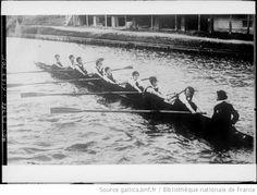 8 [huit avec barreur] du collège de Newnham [aviron féminin] : [photographie de presse] / [Agence Rol] - 1