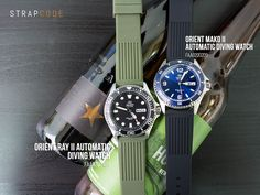 Aquick comparison of the new Orient Ray II Automatic Diving Watch FAA02004B9 and Orient Mako II Automatic Diving Watch FAA02002D9 Different fonts on the bevel and on the day/date MAKO II has &#822…