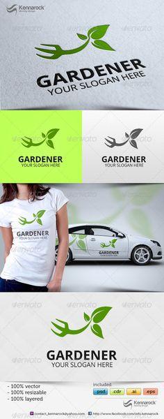 Logo inspiration for florists and gardeners. Gardener Logo Template
