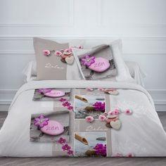 Housse de couette 220x240cm Relax Flower + 2 taies 100% coton 57 Fils/cm² Bedding Decor, Luxury Bedding, Comforters, Toddler Bed, Decorative Boxes, Relax, Furniture, Beautiful, Home Decor
