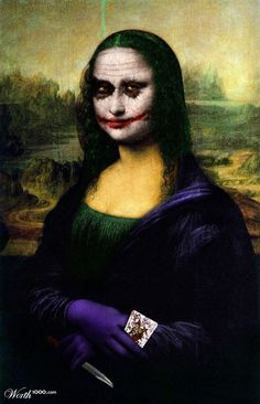 Why so serious? Mona Lisa #joker