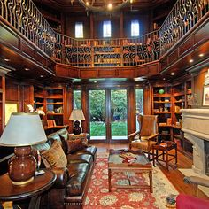Mediterranean Home Library Design