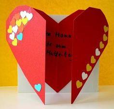Muttertagskarte zum Öffnen - oder sich zum Valentinstag