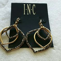 I.N.C. HEM SATURN DROP EARRINGS GOLD COLOR, HEM SATURN DROP EARRINGS,  U.P.C.#  0000848767017714 I.N.C. Jewelry Earrings