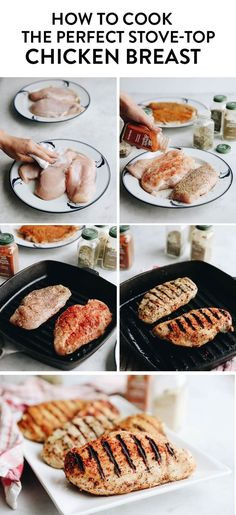 How to cook chicken on the stove - a step-by-step tutorial on how to cook the perfect stove-top chicken breast
