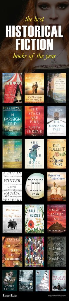 The best historical fiction books of including world war 2 stories, novels based on true stories, and other great history books. Historical fiction is my favorite genre. I Love Books, Good Books, Books To Read, Big Books, Book Suggestions, Book Recommendations, Reading Lists, Book Lists, Reading Books