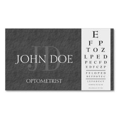 Optometrists business card priyan pinterest optometrist chart dark grey slate stone business card colourmoves