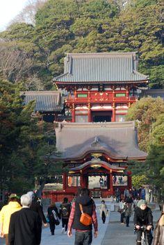Hachimangu Shrine -  Kamakura, Japan. Kamakura is one of my favorite places to visit with many temples between Kita-Kamakura, Kamakura & Hase where the Daibutsu (Buddah) is located.  v.