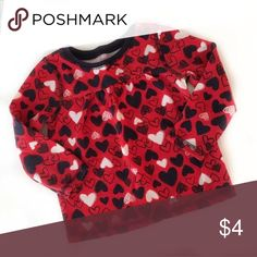 Thermal shirt Red thermal w navy blue and white hearts Children's Place Dresses