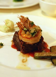 Short rib cooked two ways. Alan Wong