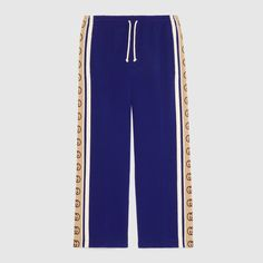 Joggers Regular Fit A Righe Con Bande Laterali Blue Puma