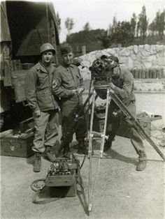 Joseph LeGault, Gerald Durning and Ewell Hoover, 165th Signal Photo Company