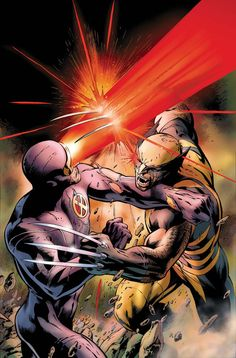 Cyclops vs Wolverine: optic blast would push back  the claws with extreme force. Could strip the flesh off Wolverine's unbreakable bones and leave them scattered over miles of topogrophy.