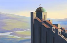 Environment and etc.practice #sketching #conceptart #architecture #tower #town #landscape