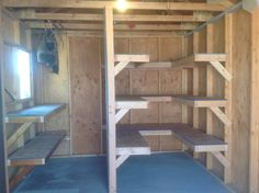 69 Clever Storage Shed Organization Ideas 58 Source by browsyouroom Storage Shed Organization, Wood Storage Sheds, Wood Shed, Garage Storage, Wood Shelves Garage, Clever Storage Ideas, Garage Shed, Firewood Storage, Diy Shed Plans