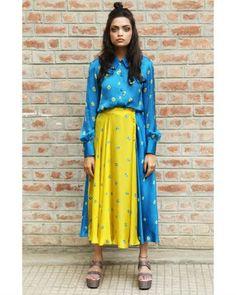 Yellow Midi Skirt I Shop at :http://www.thesecretlabel.com/crazyheart