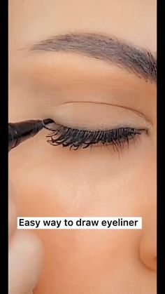 Eyeliner Make-up, Makeup Tutorial Eyeliner, Makeup Looks Tutorial, Eyeshadow Makeup, Eyeliner Hacks, Eyeliner Styles, Eyeliner Ideas, How To Eyeshadow, How To Eyeliner