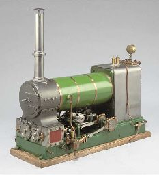 A well engineered model twin cylinder compound under-type stationary steam engine