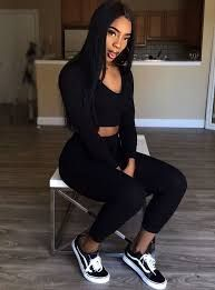 Image Result For How To Be A Baddie At School Black Summer Outfits All Black Outfit Fashion