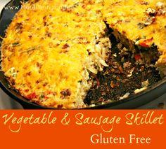 Vegetable and Sausage Skillet - gluten free