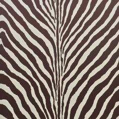 Zebra print wallcovering from Ralph Lauren Home's Penthouse Suite collection