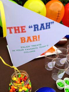 The RAH Bar - Super Bowl Party Candy Bar
