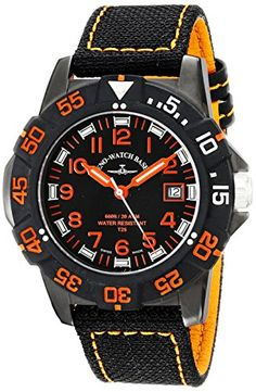 Zeno Men's Divers Analog Display Quartz Black Watch by Zeno -- Awesome products selected by Anna Churchill Basel, Black Fabric, Casio Watch, Quartz Watch, Watches, Leather, Churchill, Shopping, Accessories