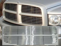 QAA  RAM 2002-2005 DODGE 1500-2500 (STAINLESS STEEL GRILLE OVERLAY - *over existing grille and fastened with included nuts & bolts*) SGB42931