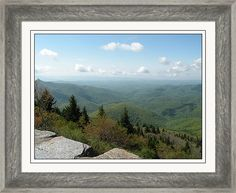 Framed Print featuring the photograph View From The Devil's Courthouse by Becky Erickson