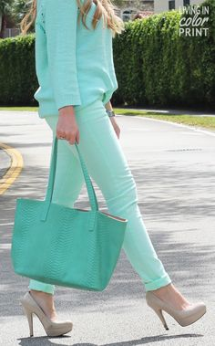 Monochromatic Mint // Living In Color Print.    <3